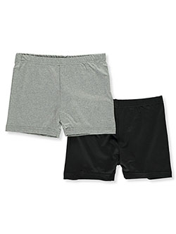 Girls' 2-Pack Play Shorts Underwear by Marilyn Taylor in Gray/black, Girls Fashion