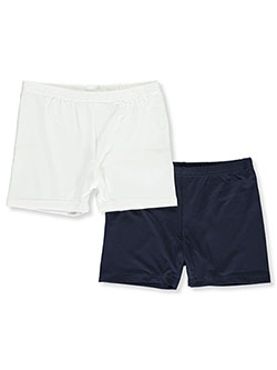 Girls' 2-Pack Play Shorts Underwear by Marilyn Taylor in White/navy, Girls Fashion
