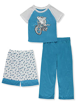 Boys' Shark 3-Piece Pajama Set by Head in Multi, Boys Fashion