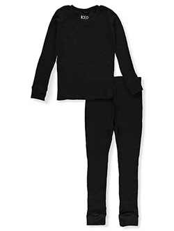 Boys' Thermal 2-Piece Long Underwear Set by Ice2O in black, charcoal heather, light gray, natural and navy