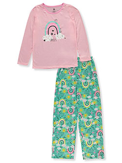 Girls' Smiles 2-Piece Pajamas by Chili Peppers in Pink/multi, Girls Fashion