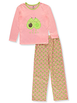 Girls' Avocado 2-Piece Pajamas by Chili Peppers in Coral/multi