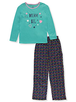 Girls' Dream Big 2-Piece Pajamas by Chili Peppers in Teal/multi, Girls Fashion