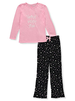 Girls' 2-Piece Pajamas by Chili Peppers in Black/pink
