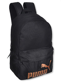 Backpack by Puma in black/gold and dark green