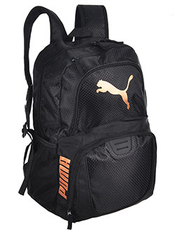 "Contender 3.0 19.5"" Backpack by Puma in black/gold and navy/black"