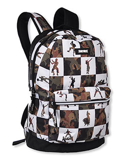 Backpack by Fortnite in black/green and camouflage