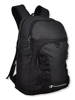 Textured Contrast Backpack by Champion in black, gray/black and navy