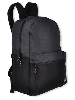 Logo Classic Zip Backpack by Champion in black, pink/multi and red/black