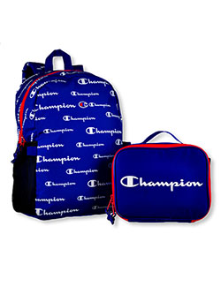 "Expedition 19.5"" Backpack with Lunchbox by Champion in black multi, blue and purple"