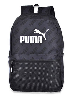 Unisex Repeat Logo Backpack by Puma in black and camouflage - $19.99
