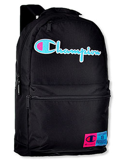 Supercize 3.0 Backpack by Champion in black, gray/blue and teal, School Uniforms