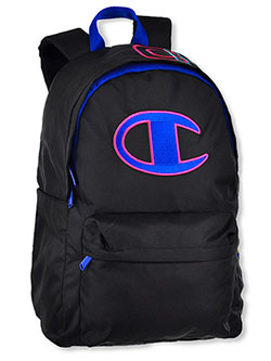 Sector Embroidered Backpack by Champion in Black, School Uniforms