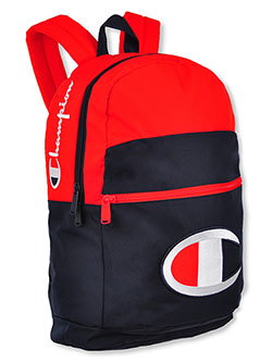 Youth Supercize Backpack by Champion in hot/pink, pink and red/navy