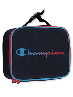 Single Compartment Lunchbox by Champion in black multi and blue