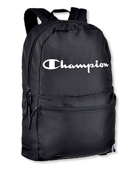 Asher Backpack by Champion in black, black multi and gray/blue