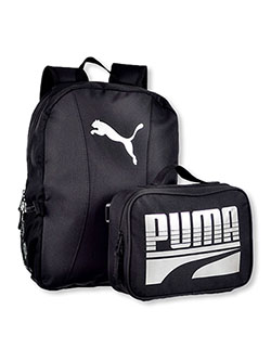 Slim Backpack with Lunchbox by Puma in black/blue, black/red, gray multi and royal blue