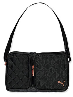 Lux Quilted Shoulder Bag by Puma in Black camo