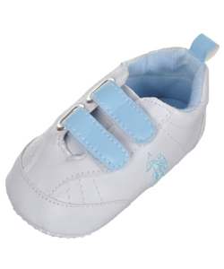 "U.S. Polo Assn. Baby Boys' ""Dual Strap Faux Leather"" Sneaker Booties - CookiesKids.com"