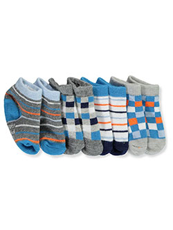 Baby Boys' 4-Pack Sock Booties by U.S. Polo Assn. in checks, dots, snickers and star