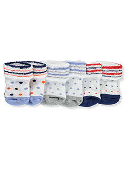 Baby Boys' Terry Knit 3-Pack Socks by U.S. Polo Assn. in dots, snickers, star and stripe