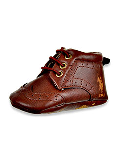 Baby Boys' Worsted Booties by U.S. Polo Assn. in Brown