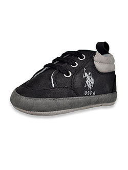Baby Boys' Suede-Look Boot Booties by U.S. Polo Assn. in Black, Infants