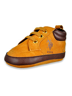 Baby Boys' Suede-Look Boot Booties by U.S. Polo Assn. in Tan