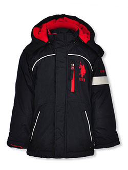 Boys' Insulated Jacket by U.S. Polo Assn. in Black, Boys Fashion