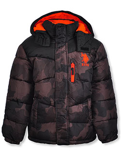 Boys' Camo Insulated Parka by U.S. Polo Assn. in Camo