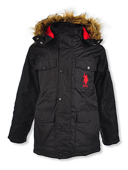 Sleeve Emblem Insulated Parka by U.S. Polo Assn. in black and olive