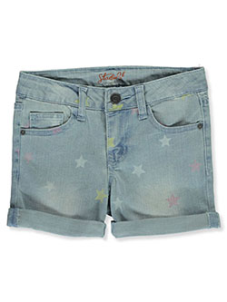 Girls' Star Denim Shorts by Studio V in Dust storm