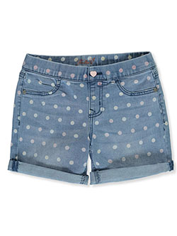 Girls' Polka Dot Denim Shorts by Studio V in Sasha dark denim