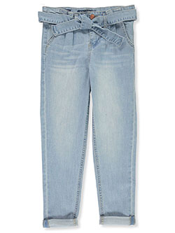 Girls' Self-Belted Skinny Jeans by Vigoss, Girls Fashion
