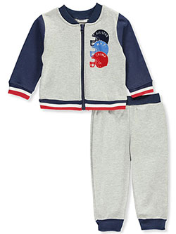 All Star Champ 2-Piece Pants Set Outfit by Vitamins Kids in Light heather gray