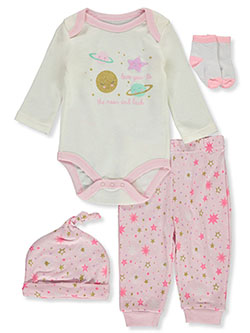 Girls' 4-Piece Layette Set by Vitamins Baby in Multi