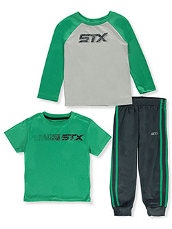 Boys' Raglan 3-Piece Joggers Set Outfit by STX in Multi