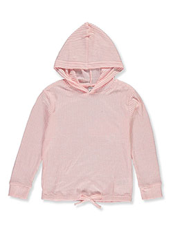 Girls' Corduroy Hoodie by Wallflower in Almond, Girls Fashion