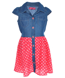 "Chillipop Little Girls' ""Dots Down"" Dress (Sizes 4 – 6X) - CookiesKids.com"