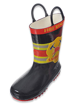 "Lilly Boys' ""Ladder Co. 110"" Rain Boots (Toddler Sizes 5 – 10) - CookiesKids.com"