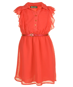 "Chillipop Little Girls' ""Daybreak"" Belted Dress (Sizes 4 – 6X) - CookiesKids.com"