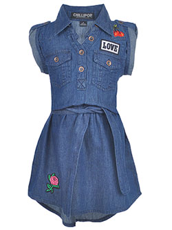 "Chillipop Little Girls' Toddler ""Chambray Breeze"" Dress (Sizes 2T – 4T) - CookiesKids.com"
