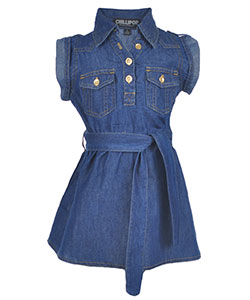"Chillipop Little Girls' ""Soft Side"" Belted Dress (Sizes 4 – 6X) - CookiesKids.com"