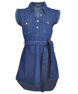 "Chillipop Big Girls' ""Soft Side"" Belted Dress (Sizes 7 – 16) - CookiesKids.com"