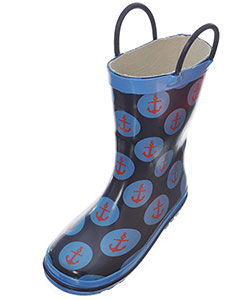 "Lilly Boys' ""Anchored"" Rain Boots (Toddler Sizes 5 – 12) - CookiesKids.com"