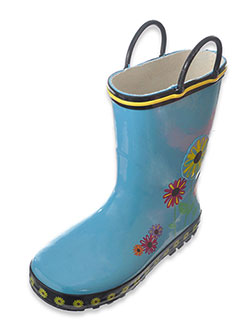 "Lilly Girls' ""Flower Shower"" Rain Boots (Toddler Sizes 11 – 12) - CookiesKids.com"