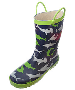 "Lilly Boys' ""Shark Shower"" Rain Boots (Youth Sizes 13 – 3) - CookiesKids.com"