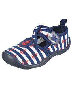 "Aquakiks Boys' ""Striped Anchors"" Water Shoes (Toddler Sizes 5 – 10) - CookiesKids.com"