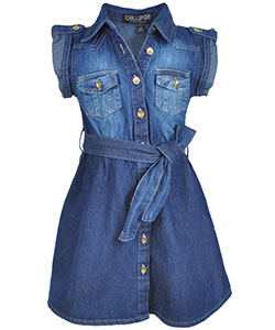 "Chillipop Little Girls' ""Western Fade"" Belted Dress (Sizes 4 – 6X) - CookiesKids.com"