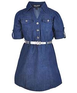 "Chillipop Little Girls' ""Centered Seams"" Belted Dress (Sizes 4 – 6X) - CookiesKids.com"
